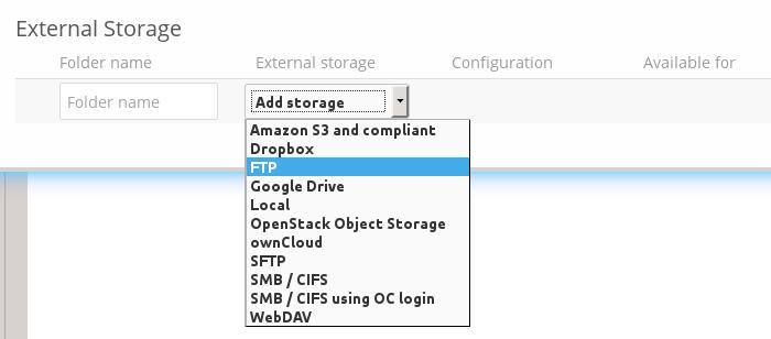 Configuring External Storage (GUI) — Nextcloud 12 Server