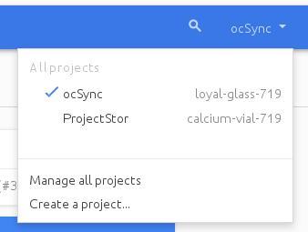 "Google Drive app ""create project"" screen"