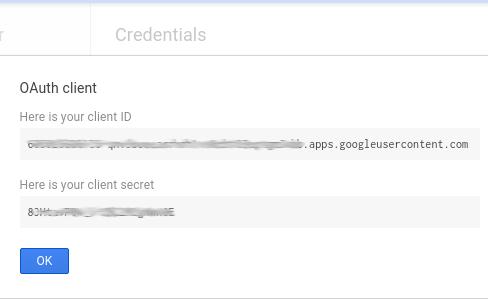 Client ID and client secret.