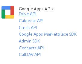Drive API link.