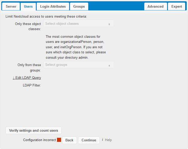 User Authentication with LDAP — Nextcloud 12 Server