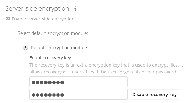 Encryption configuration — Nextcloud latest Administration